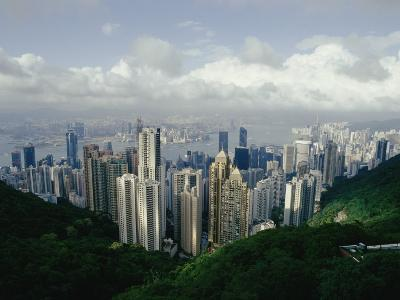 Hong Kong Island and the Bay with Kowloon on the Far Shore-Jason Edwards-Photographic Print
