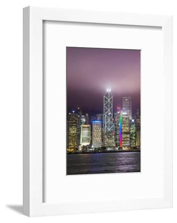 Hong Kong Island skyline and Victoria Harbour, Hong Kong, China.-Michael DeFreitas-Framed Photographic Print