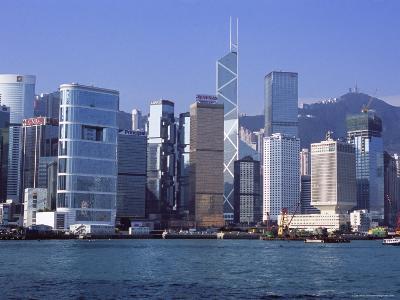 Hong Kong Island Skyline from Victoria Harbour, Hong Kong, China, Asia-Amanda Hall-Photographic Print