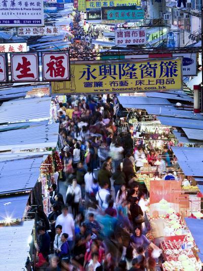 Hong Kong, Kowloon, Mongkok, Fa Yuen Street Market, China-Peter Adams-Photographic Print