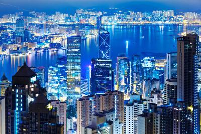 Hong Kong Landmark from the Peak-leungchopan-Photographic Print