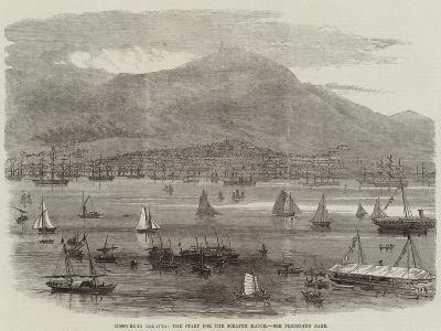 Hong-Kong Regatta, the Start for the Scratch Match--Giclee Print
