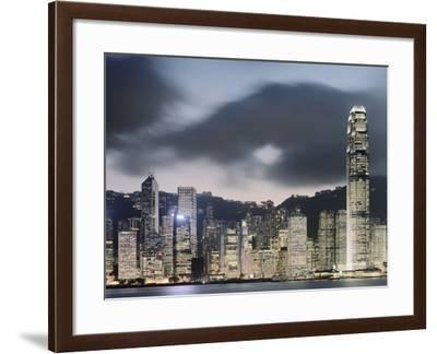 Hong Kong Skyline and financial district at dusk-Martin Puddy-Framed Photographic Print