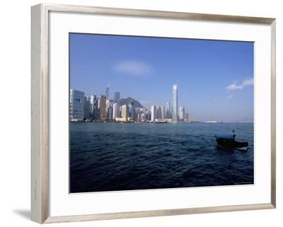 Hong Kong Skyline and Victoria Harbour, Hong Kong, China-Amanda Hall-Framed Photographic Print