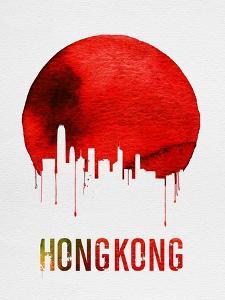 Hong Kong Skyline Red