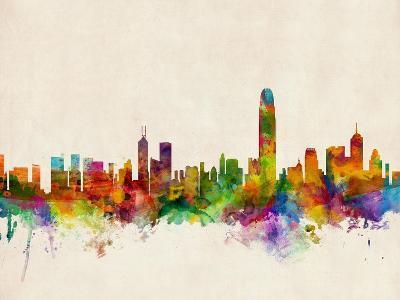 Hong Kong Skyline-Michael Tompsett-Art Print