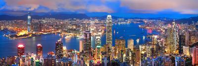 Hong Kong Sunset Panorama-hangvisual-Photographic Print
