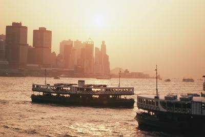 Hong Kong, Tsim Sha Tsui, View of Skyline and Star Ferry-Stuart Westmorland-Photographic Print