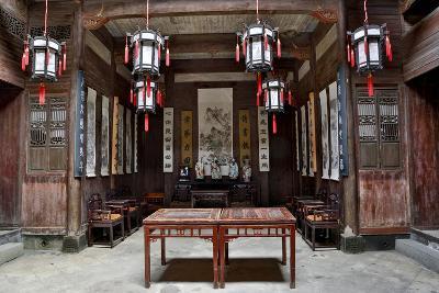 Hongcun Village, Interior of Home, UNESCO World Heritage Site-Darrell Gulin-Photographic Print