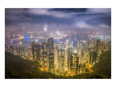 Hongkong From the Peak--Art Print