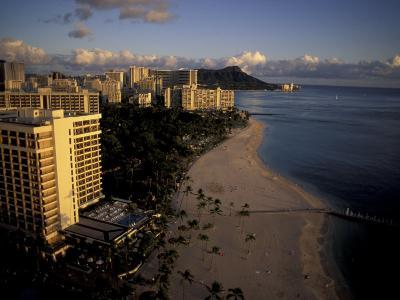 Honolulu Beach and Diamond Head, Oahu Hawaii-Randa Bishop-Photographic Print