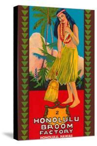 Honolulu Broom Factory Broom Label