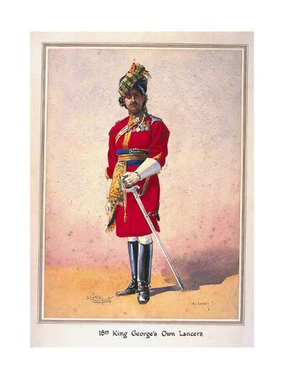 Honorary Lieutenant Hon Malik Umar Hayat Khan, Cie, Tiwana of Ahahpur (Punjabi Musalman)…-Alfred Crowdy Lovett-Giclee Print