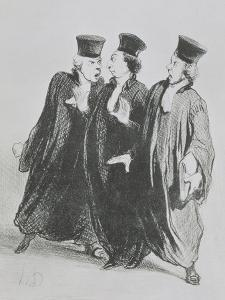 A Dispute Outside the Courtroom, from the series 'Les Gens de Justice' c.1846 by Honore Daumier
