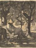 Don Quixote and Sancho Panza-Honore Daumier-Giclee Print