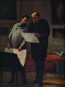'Advice to a Young Artist', 1865-1868 by Honore Daumier