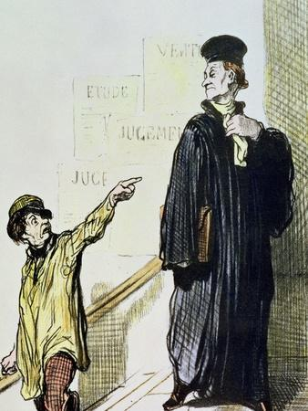 "An Unsatisfied Client, from the Series ""Les Gens de Justice"", circa 1846"