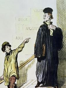 """An Unsatisfied Client, from the Series """"Les Gens de Justice"""", circa 1846 by Honore Daumier"""