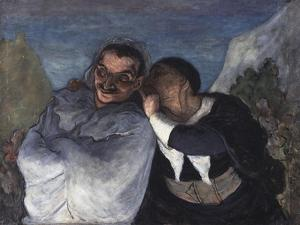 Crispin et Scapin, c.1860 by Honore Daumier