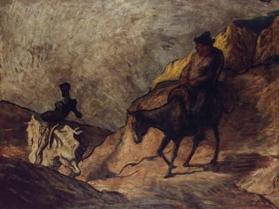 Don Quixote and Sancho Panza, 1866-1867