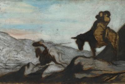 Don Quixote and Sancho Panza, Ca 1855