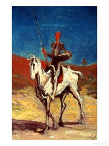 Don Quixote and Sancho Panza, circa 1865-1870 by Honore Daumier