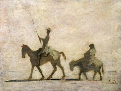 Don Quixote and Sancho Panza by Honore Daumier