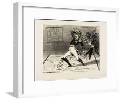 Emperor Nicolas Working in His Cabinet, Plate 94 from Actualités, 1850