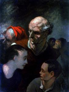 Family in a Barricade During the Paris Commune, 1870 by Honoré Daumier