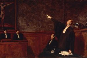In Court by Honore Daumier