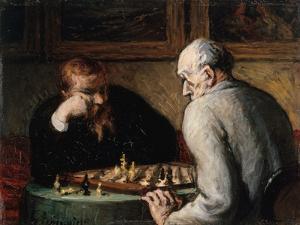 Joueurs d'échecs by Honoré Daumier