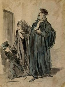 Judge, Woman and Child by Honore Daumier