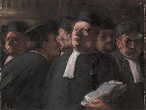 La Salle Des Pas-Perdus Au Palais De Justice by Honore Daumier