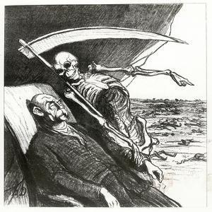 Le Cauchemar De Bismarck: La Mort: 'Merci', Bismarck's Nightmare, 1870 by Honore Daumier