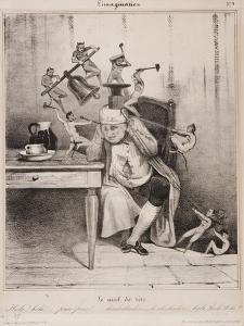 Le Mal De Tête, 1833 by Honore Daumier