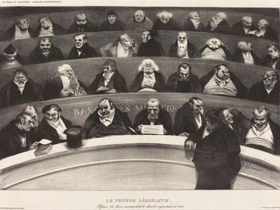 Le Ventre Législatif (The Legislative Belly) by Honoré Daumier