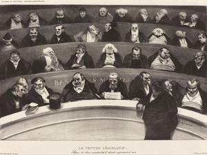 Le Ventre Législatif (The Legislative Belly) by Honoré Daumier by Honore Daumier