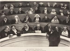 Le Ventre Législatif (The Legislative Belly) by Honoré Daumier by Honore Daumier