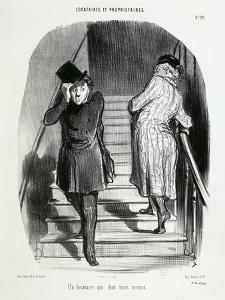 Locataires Et Proprietaires, Numero 20 - Un Locataire Qui Doit Trois Termes by Honore Daumier