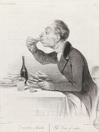 Man Eating Oysters and Wine