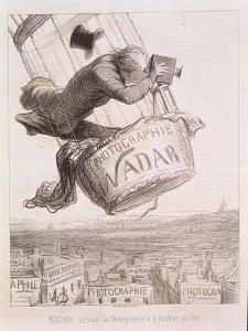 Nadar Elevating Photography to the Height of Art, Published 1862 by Honore Daumier