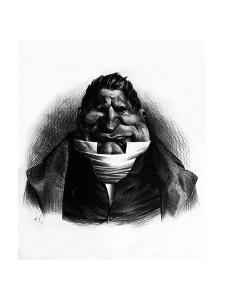 Pot-De-Naz, Caricature from 'Le Charivari', May 2, 1833 by Honore Daumier