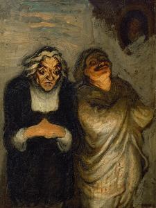 Scene de comedie or Un Scapin. Oil on canvas 32.5 x 24.5 cm R.F. 2666. by HONORE DAUMIER
