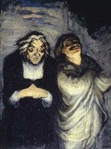 Scene de Comedie by Honore Daumier