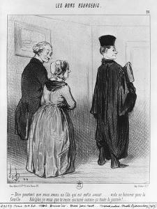 Series 'Les Bons Bourgeois', Marvellous to Have a Son who is a Lawyer, Illustration, 'Le Charivari' by Honore Daumier