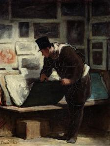 The Collector of Engravings, circa 1860-62 by Honore Daumier