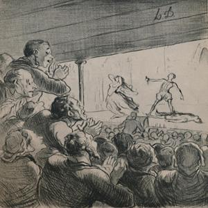 'The Drama', c.1860s,(1946) by Honore Daumier