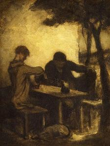 The Drinkers, 1861 by Honore Daumier