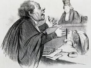 The Lawyer, Caricature by Honore Daumier