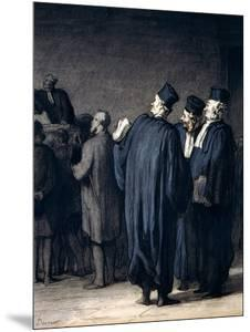 The Lawyers, 1870-75 by Honore Daumier